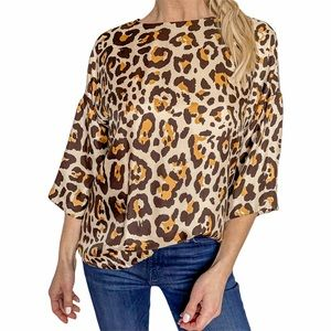Christian Dior Leopard Top in Brown